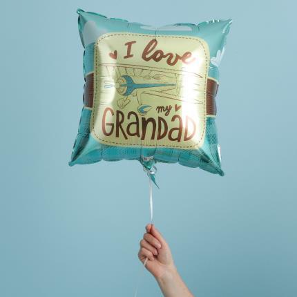 Balloons - I Love My Grandad Retro Balloon - Image 1