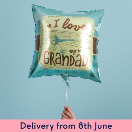 Balloons - I Love My Grandad Retro Balloon - Image 2