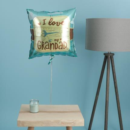 Balloons - I Love My Grandad Retro Balloon - Image 4
