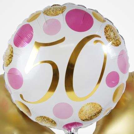 Balloons - 5Oth Birthday Balloon Trio - Image 3