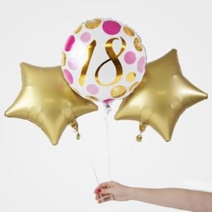 Balloons - 18th Birthday Balloon Trio - Image 1