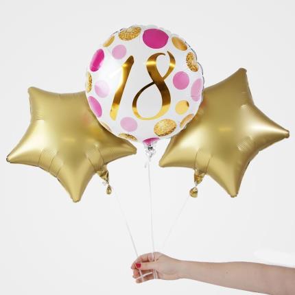 Balloons - 18th Birthday Balloon Trio - Image 2