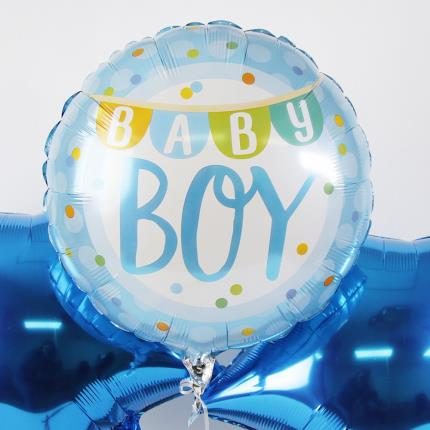 Balloons - New Baby Boy Balloon Trio - Image 3