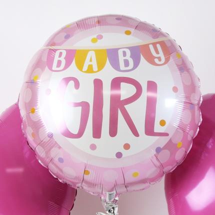 Balloons - New Baby Girl Balloon Trio - Image 3