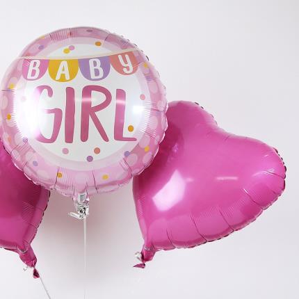Balloons - New Baby Girl Balloon Trio - Image 4