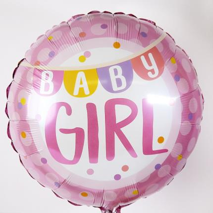 Balloons - New Baby Girl and Lamb Soft Toy Gift Set - Image 3