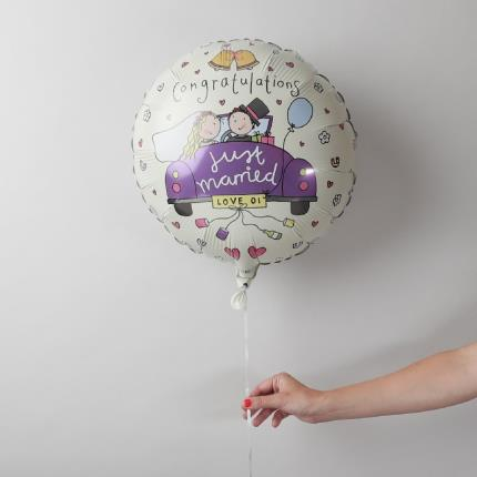 Balloons - Just Married Balloon - Image 1