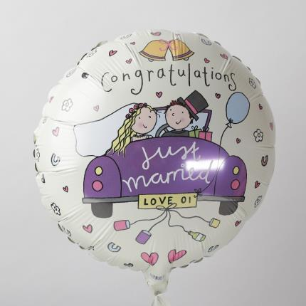 Balloons - Just Married Balloon - Image 4