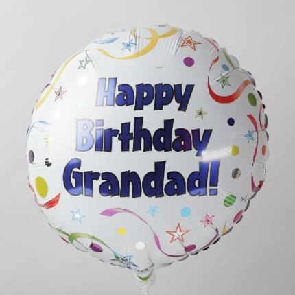 Balloons - Happy Birthday Grandad Balloon - Image 1