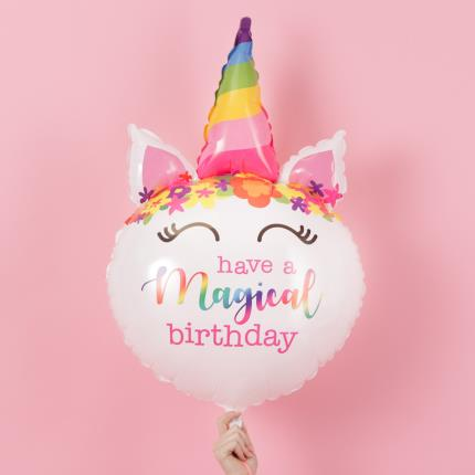Balloons - Giant Magical Birthday Unicorn Balloon - Image 1