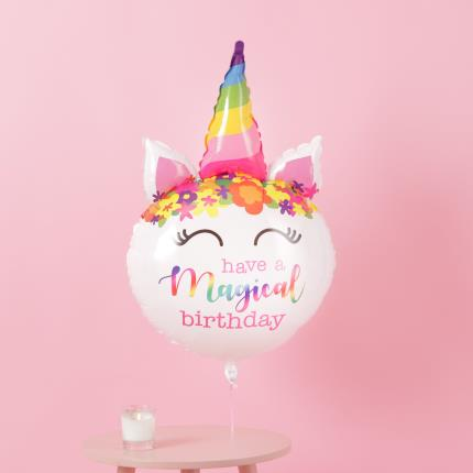 Balloons - Giant Magical Birthday Unicorn Balloon - Image 3