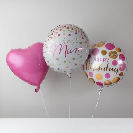 Balloons - Happy Birthday Mum Balloon Bouquet - Image 1