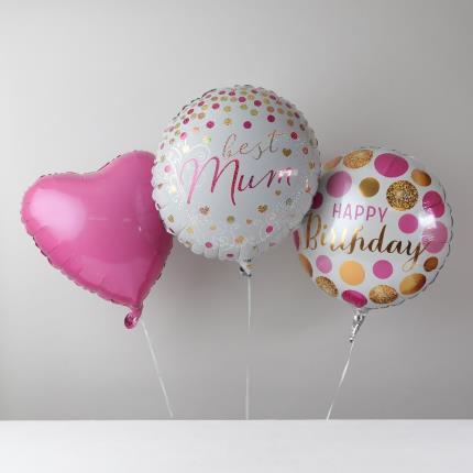 Balloons - Happy Birthday Mum Balloon Bouquet - Image 2