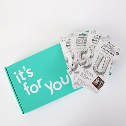 Balloons - Letterbox Happy Birthday Silver Script Balloon - Image 4
