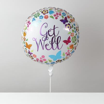Balloons - Get Well Butterfly Balloon - Image 1