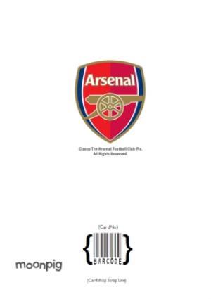 Greeting Cards - Arsenal FC Birthday Card - Name and number on jersey - Image 4