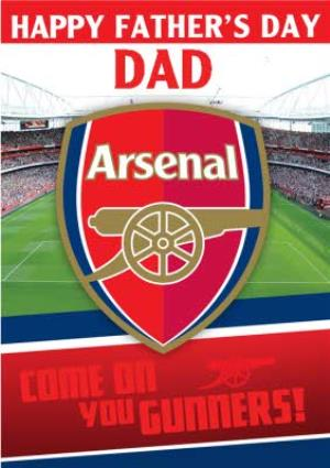 Greeting Cards - Arsenal Football Stadium Come On You Gunners Happy Father's Day Card - Image 1