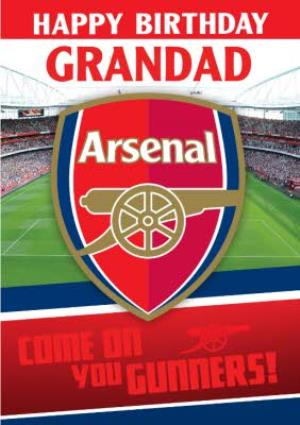 Greeting Cards - Arsenal FC Birthday Card - Grandad - Come on you Gunners! - Image 1