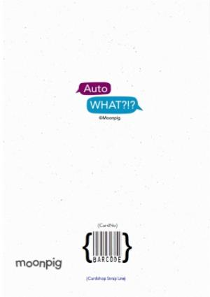 Greeting Cards - Auto What?!? Penne Typo Personalised Card - Image 4