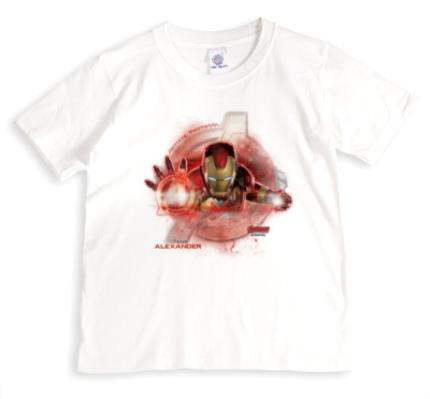 T-Shirts - Marvel The Avengers Ironman Personalised Name T-Shirt - Image 1