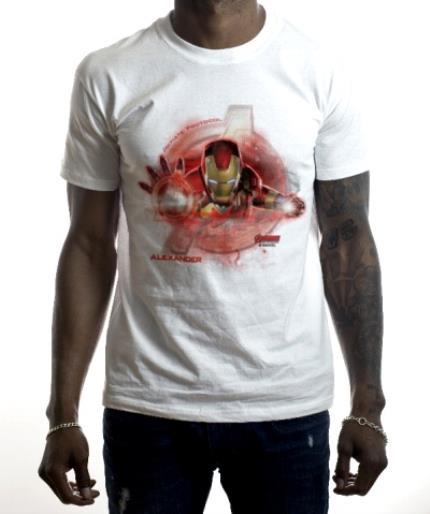 T-Shirts - Marvel The Avengers Ironman Personalised Name T-Shirt - Image 2