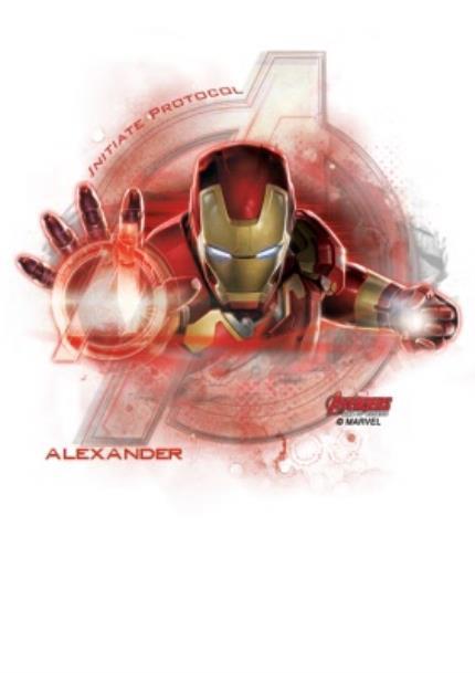 T-Shirts - Marvel The Avengers Ironman Personalised Name T-Shirt - Image 4