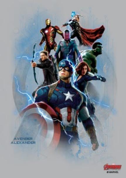 T-Shirts - Marvel The Avengers Personalised Name T-Shirt - Image 4