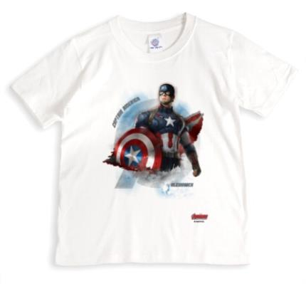T-Shirts - Marvel Captain America Personalised Name T-Shirt - Image 1
