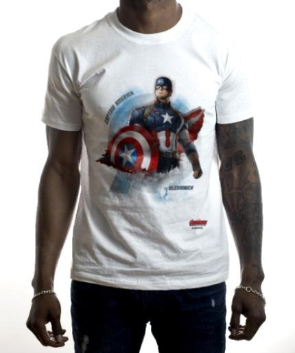 T-Shirts - Marvel Captain America Personalised Name T-Shirt - Image 2