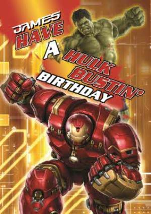 Greeting Cards - Hulk Birthday Card - Have a Hulk bustin' Birthday - Image 1
