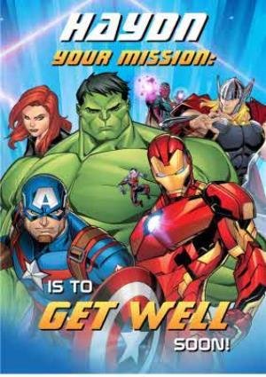 Greeting Cards - Marvel Avengers Get well soon card - Avengers - Image 1