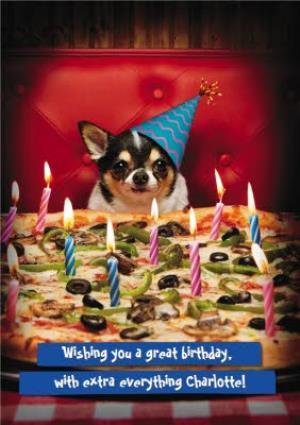 Greeting Cards - Birthday Card - Pizza - Dog - Image 1