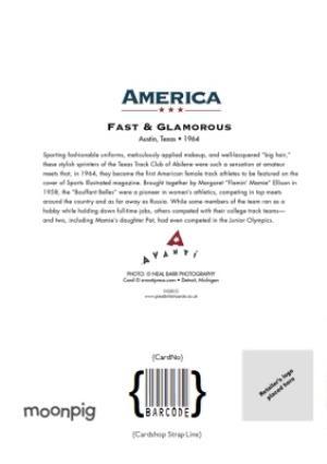 Greeting Cards - Birthday Card - Fast - Glamorous - Athletics - Sprinting - America - Image 4