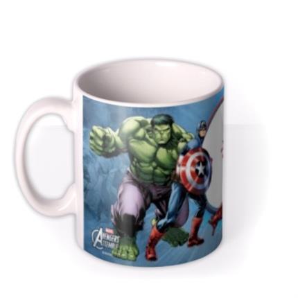 Mugs - Marvel The Avengers Blue Photo Upload Mug - Image 1