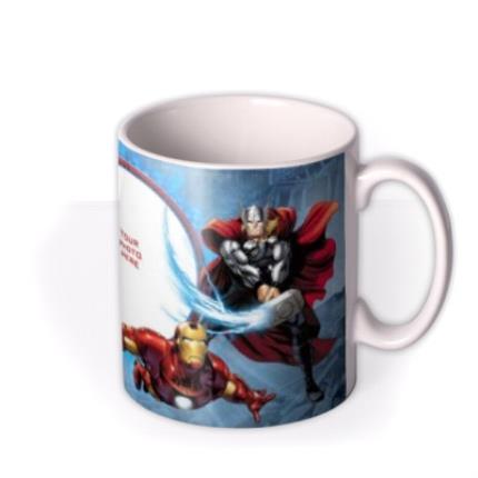 Mugs - Marvel The Avengers Blue Photo Upload Mug - Image 2