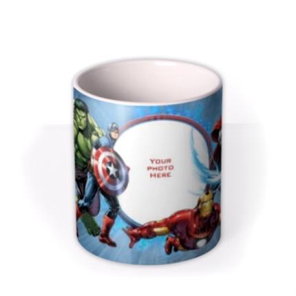 Mugs - Marvel The Avengers Blue Photo Upload Mug - Image 3