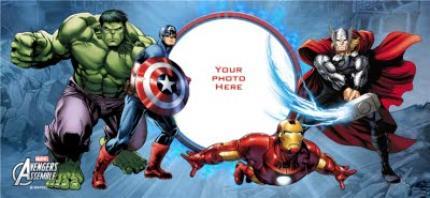 Mugs - Marvel The Avengers Blue Photo Upload Mug - Image 4
