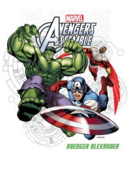 T-Shirts - Marvel The Avengers Assemble Personalised T-shirt - Image 4