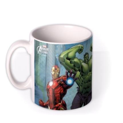 Mugs - Marvel The Avengers City Scene Personalised Mug - Image 1