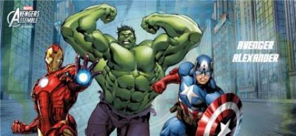 Mugs - Marvel The Avengers City Scene Personalised Mug - Image 4