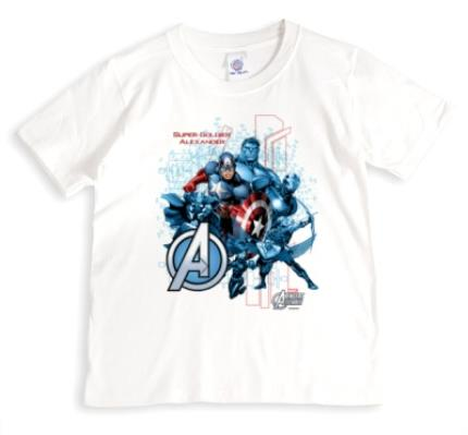T-Shirts - Marvel Captain America Super Soldier Personalised T-shirt - Image 1
