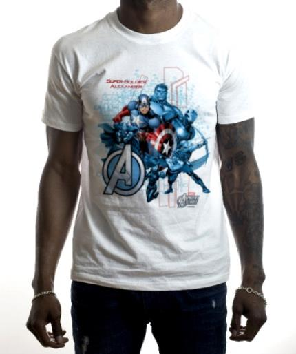 T-Shirts - Marvel Captain America Super Soldier Personalised T-shirt - Image 2
