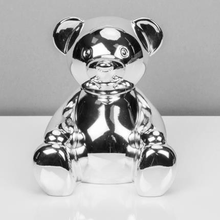 Toys & Games - Silver Plated Teddy Bear Money Box - Image 2