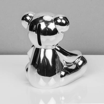 Toys & Games - Silver Plated Teddy Bear Money Box - Image 3