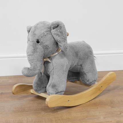 Toys & Games - Bambino Plush Grey Rocking Elephant - Image 1