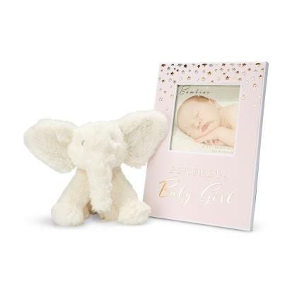 Toys & Games - Baby Girl Frame and Elephant Toy Gift Set - Image 1