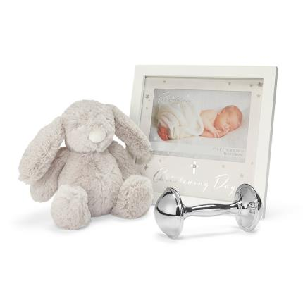 Toys & Games - Christening Bundle - Silver plated rattle ,frame and soft toy - Image 2