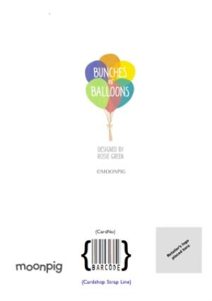 Greeting Cards - Balloons Baby Girl Personalised Birthday Card - Image 4