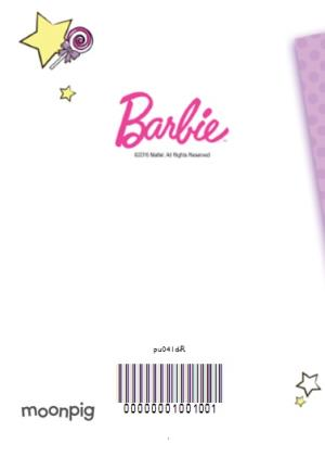 Greeting Cards - Barbie And Candy Happy Birthday Personalised Name Card - Image 4