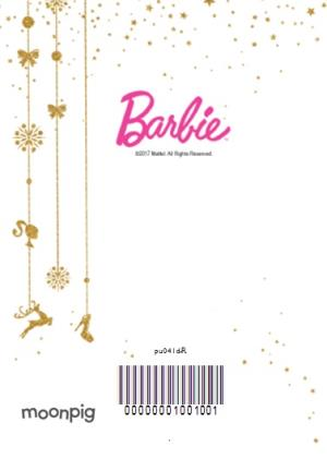 Greeting Cards - Barbie Golden Happy Christmas Photo Upload Card - Image 4